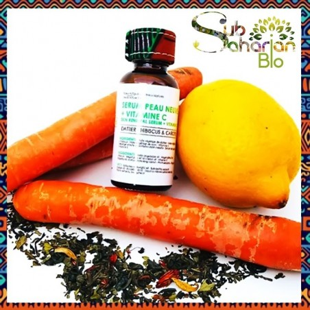 """SERUM PEAU NEUVE + VITAMINE C 30ML """"Dattier - Hibiscus - Carotte & Vitamine C"""""""