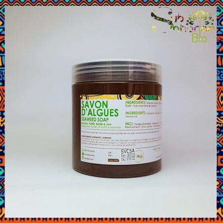 """SAVON D'ALGUES 500GRS """"Algues marines & Huile de carapa"""""""