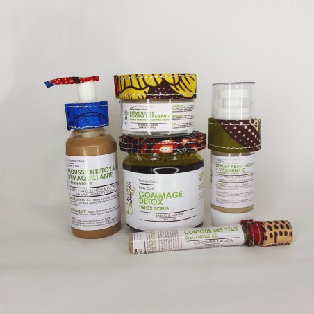 """GAMME PEAU SECHE ATOPIQUE SENSIBLE & REACTIVE ANTI CERNES & POCHES """"Mousse, crème nutritive, detox, sérum vitamine C, contour"""""""